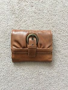 Ladies Size Small Tan Colour Leather Look Unbranded Purse