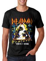 Def Leppard Hysteria Tour 1988 T Shirt Mens Licensed Rock Band Tee Retro Black