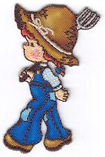 FARM GIRL - FARMER - FARM - CHILDREN - Iron On Embroidered Applique Patch