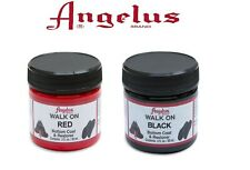 Angelus Brand Walk on Red and Black - Paint for Shoe Soles - 2oz
