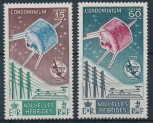 New Hebrides (FR)  - 1965 - Sc 124 - 25 - ITU Satelite MNH cv=US$32.25