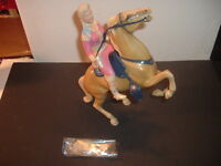 1960's Annie Oakley Hartland Statue and Horse Complete Set