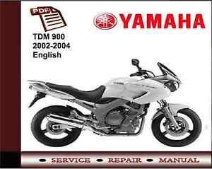 Yamaha TDM900 TDM 900 2002 - 2004 Service Repair Workshop Manual