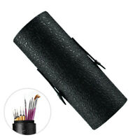 Fashion PU Leather Cosmetic Cup Case Makeup Brush Pen Holder Empty Organizer