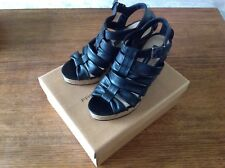 French Connection Ladies Black Leather Strappy Sandals Size Eu 38