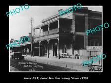 OLD LARGE HISTORIC PHOTO OF JUNEE NSW, JUNEE JUNCTION RAILWAY STATION c1900s