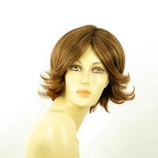 short wig for women brown copper wick light blond ref LISA 6bt27b PERUK