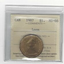 **1987** ICCS Graded Canadian, Loon, One Dollar, **MS-66*