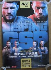Official UFC 217 Bisping vs GSP Poster 27x39 (Near Mint)