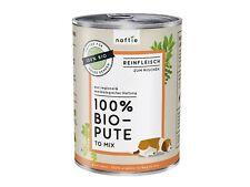 naftie Bio-Hundefutter 100% Bio Pute, Nassfutter Reinfleisch für Hunde, 400g
