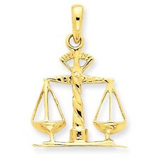 14k Solid Yellow Gold Scales of Justice Pendant - SKU #122227