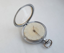 Early Vintage Soviet MOLNIJA pocket watch for blind VISION BRAILLE. PRECISION