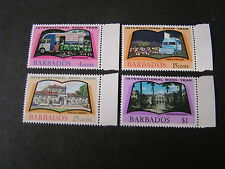 BARBADOS, SCOTT # 376-379(4), COMPLETE SET 1972 BOOK LEARNING  ISSUE MVLH