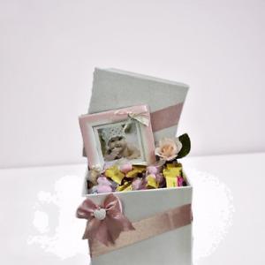 Scatola con Confetti senza glutine per Nascita Bimba