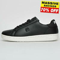Fila Heritage Crosscourt 2 Low Mens Classic Court Casual Fashion Trainers Black