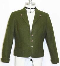 """LODEN WOOL Jacket Sweater German Women Winter Dirndl Trachten Walk Coat B39"""" 8 S"""