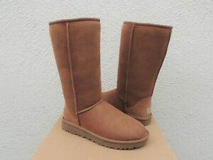 UGG CHESTNUT CLASSIC TALL II SUEDE/ SHEEPSKIN WINTER BOOTS, US 7/ EUR 38 ~NIB