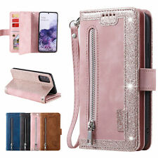 Multi-Wallet Strap Leather Zipper Stand Case For Galaxy S20Ultra/Plus S10+S9/8+
