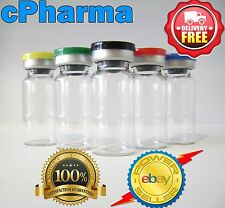 25 GLASS VIALS 10ML STERILE AND SEALED FLIP TOP LID VIAL BOTTLE/ SMALL 45MM HIGH