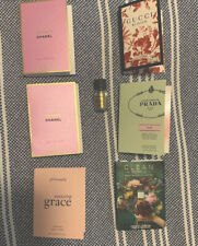 Lot of 7 Samples Chanel Chance Tendre Gucci Bloom Prada Rose Tom Ford Positano