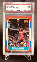 1986 Fleer Basketball Michael Jordan ROOKIE RC #57 PSA 6 EXMT 🐐🐂