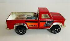 Vintage Tonka Dodge Red Wagon 4X4 Metal Pick Up Truck w/ Motorcycle Graphics USA