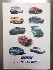 Fiat Brochure 2003 Seicento,Punto,Stilo,Doblo,Multipla,Seicento,Barchetta,rare