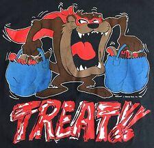 True Vintage 1986 Halloween Candy Trick or Treat Taz Tasmanian Devil T-Shirt L