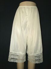 Vtg MMI Ivory Lingerie Petti-Pants Panties PLUS SZ 2X NYLON & LACE