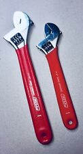 "IREGA  77W Wide-Opening Adjustable Wrench Set 2pc  8"" & 10"" w/Anti-Slip Hdl- NEW"