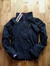 New Superdry Womens Jacket coat Size S fleeced Polar Windhiker Grey GENUINE .Ogh