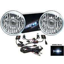 "7"" Crystal Projector Headlight White 6k HID Light Kit Fits 76-16 Jeep Wrangler"