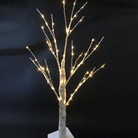 60cm LED Christmas Tree with Lights Easter Decorations Branch Twig Tree White UK