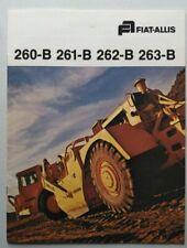 Fiat- Allis 260-B, 261-B, 262-B, 263-B Scraper Sales Brochure