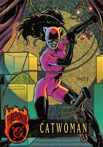 CATWOMAN / DC Comics Outburst Firepower (1996) BASE Trading Card #37