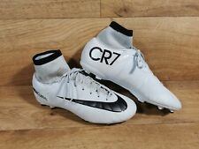 Nike Kids Junior Mercurial Victory 6 CR7 Ronaldo Sock Boots Moulded White UK 5