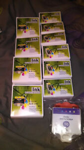 11 Sealed Generic Printer Ink Cartridges For Kodak Hero 9.1. 10C 10B Color Black