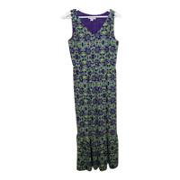 Coldwater Creek Womens Sleeveless Maxi Dress Long Sheath Ruffle Hem Work Size 8