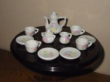 Poupée barbie mattel en céramique thé ensemble maison de poupées meubles vintage strombecker