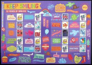 GB Ten Years of SMILERS Keep Smiling Limited Edition at £17 Face Value DH921