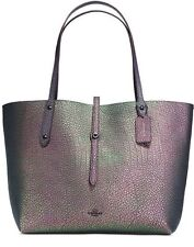 COACH Pebbled Leather HOLOGRAM Market Tote Bag 54631 NWT NEW FREE SHIP