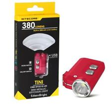 Nitecore TINI 380 Lumens LED keychain light Flashlight USB charging - Red
