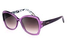 New Authentic Lanvin Paris Sunglass SLN553 0Z34 Violet/ Brown Fade Lens Italy