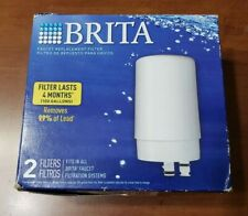 Brita Faucet Replacement Water Filter Cartridge FR-200 White 2 Pack
