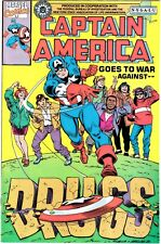 CAPTAIN AMERICA GOES TO WAR AGAINST DRUGS #1 (1990 Giveaway) Marvel Comics FBI