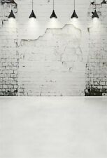 Peeled Brick Wall Lamps Photography Backgrounds 3x5ft Vinyl Photo Backdrops Prop
