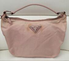 Authentic Prada Pink Tessuto Nylon Leather Trim Shoulder Bag 39ca031c89