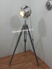 BEST DESIGNER NAUTICAL SEARCH SPOT LIGHT LAMP WITH GREY TRIPOD STAND HOME DECOR