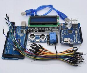 Mega 2560 r3 Kit HC-SR04  Relais Modul W5100 UNO schild LCD 1602 Tastatur schild