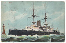 HMS MARS Royal Navy Battleship Postcard, Postmarked Havant 1905